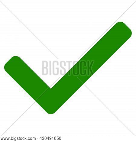 Accept Tick Icon With Flat Style. Isolated Vector Accept Tick Icon Image On A White Background.