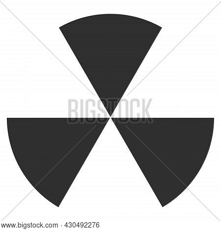 Circle Sectors Icon With Flat Style. Isolated Vector Circle Sectors Icon Image On A White Background