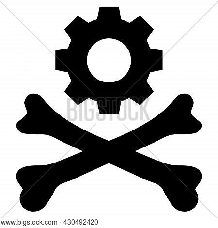Death Mechanics Icon With Flat Style. Isolated Vector Death Mechanics Icon Image On A White Backgrou