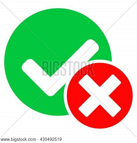 False Positive Icon With Flat Style. Isolated Vector False Positive Icon Image On A White Background