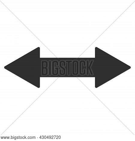 Horizontal Exchange Arrow Icon With Flat Style. Isolated Vector Horizontal Exchange Arrow Icon Image