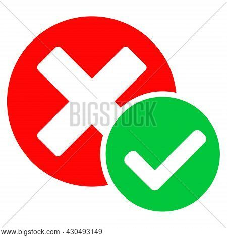 True Negative Icon With Flat Style. Isolated Vector True Negative Icon Image On A White Background.