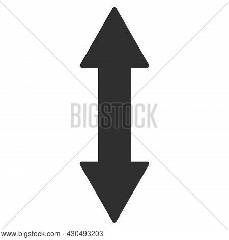 Vertical Exchange Arrow Icon With Flat Style. Isolated Vector Vertical Exchange Arrow Icon Image On