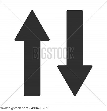 Vertical Exchange Arrows Icon With Flat Style. Isolated Vector Vertical Exchange Arrows Icon Image O