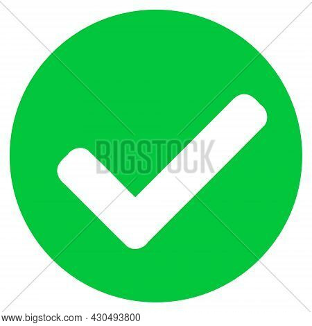 Yes Mark Icon With Flat Style. Isolated Vector Yes Mark Icon Image On A White Background.