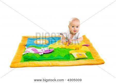Baby Playing isoliert