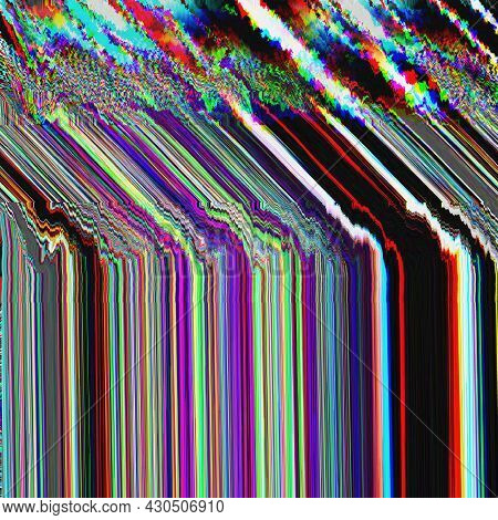 Tv Glitch Psychedelic Noise Background Old Vhs Screen Error Digital Pixel Noise Abstract Design Comp