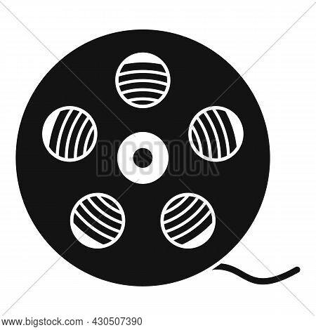 Film Reel Icon Simple Vector. Movie Cinema. Video Camera