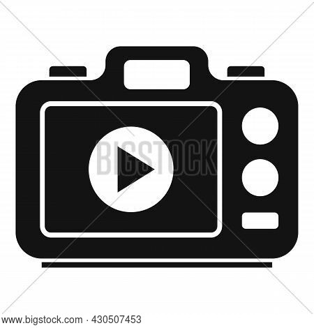 Photo Camera Icon Simple Vector. Digital Picture. Flash Photography