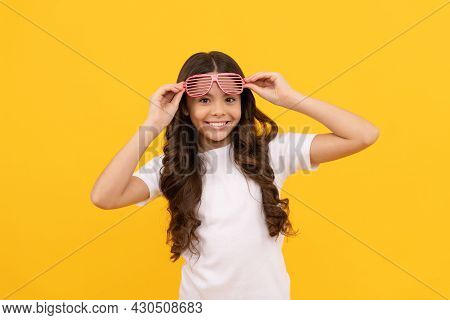 Fancy Teen Girl In Glamour Party Eyeglasses With Rhinestones, Fashion