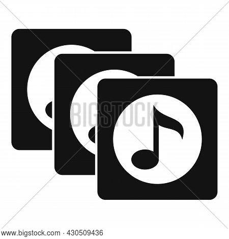 Playlist Song Album Icon Simple Vector. Music List. Mobile App