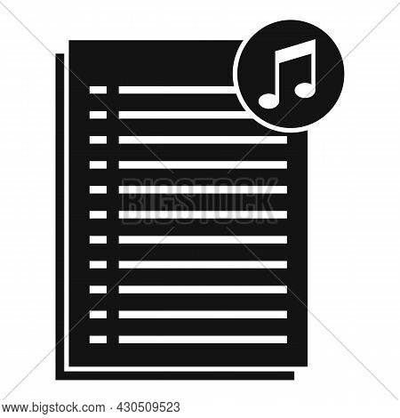 Podcast Playlist Icon Simple Vector. Music Song. Mobile App
