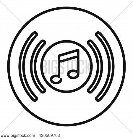 Vinyl Disk Playlist Icon Outline Vector. Music Song. Mobile App