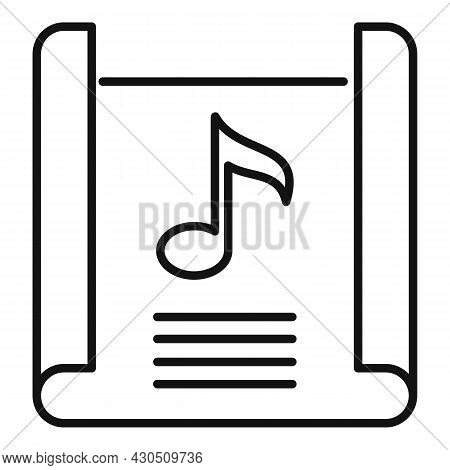 Song Playlist Icon Outline Vector. Music List. Audio Interface