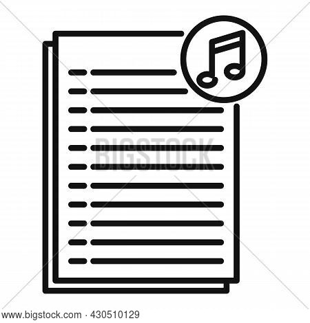 Podcast Playlist Icon Outline Vector. Music Song. Mobile App
