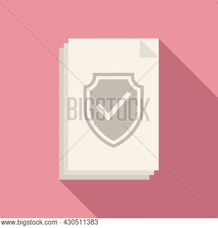 Reliability Documents Icon Flat Vector. Business Document. Website Information
