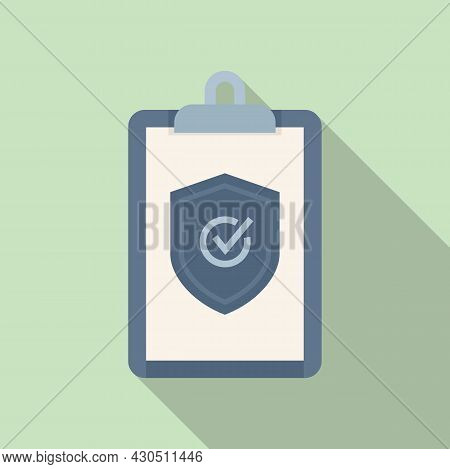 Reliability Clipboard Icon Flat Vector. Iso Assistant. Audit Checklist
