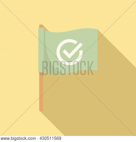 Reliability Flag Icon Flat Vector. South Customer. Reliable Shield