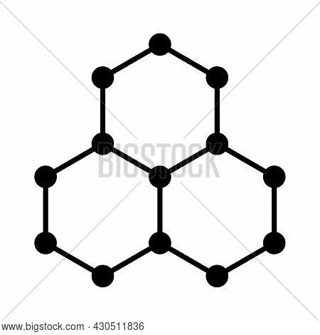 Graphene Symbol, Schematic Molecular Structure Of Graphene, Allotrope Of Carbon, Consisting Of A Sin