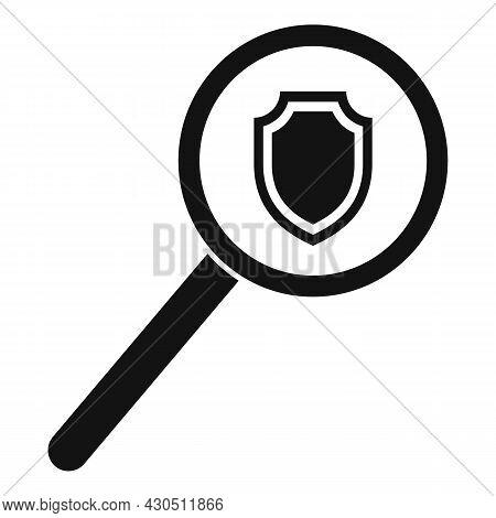 Reliability Search Icon Simple Vector. Bonus Money. Online Business