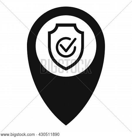Reliability Location Icon Simple Vector. Fast Delivery. Auto Cab