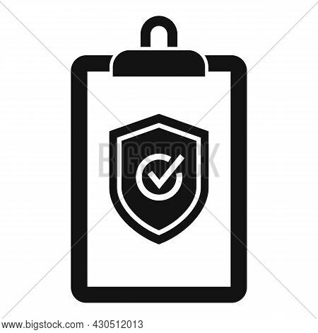 Reliability Clipboard Icon Simple Vector. Iso Assistant. Audit Checklist