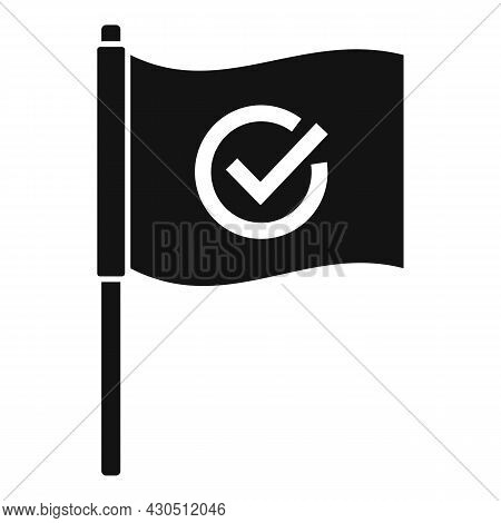 Reliability Flag Icon Simple Vector. South Customer. Reliable Shield