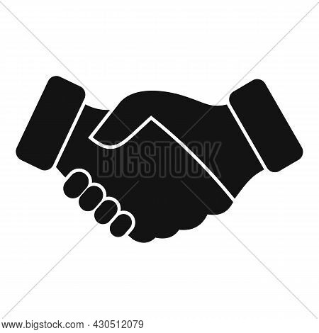 Reliability Handshake Icon Simple Vector. Trust Integrity. Social Business