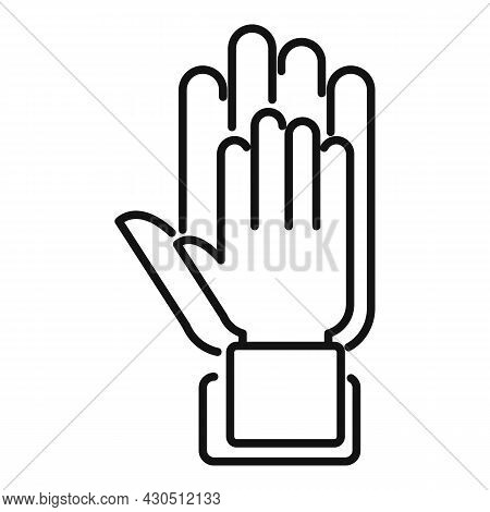 Hands Reliability Icon Outline Vector. Safety Dependable. Social Together