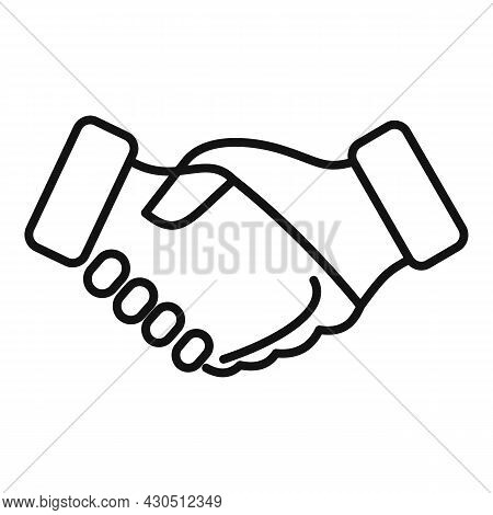 Reliability Handshake Icon Outline Vector. Trust Integrity. Social Business