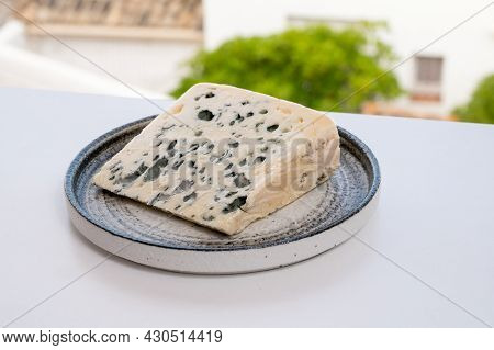 Cheese Collection, Semi-hard French Blue Cheese Roquefort From Roquefort-sur-soulzon, France