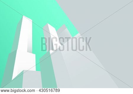Abstract Minimalist Building Background. Vector Illustration. Minimalist Background.
