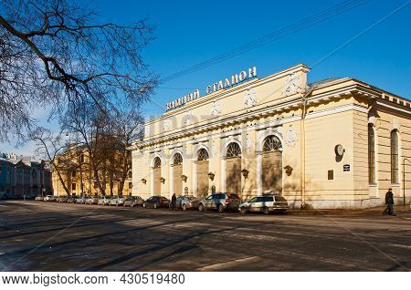 St Petersburg, Russia - March 25, 2012: Manezhnaya Square And The Building Of Mikhailovsky Manege Or