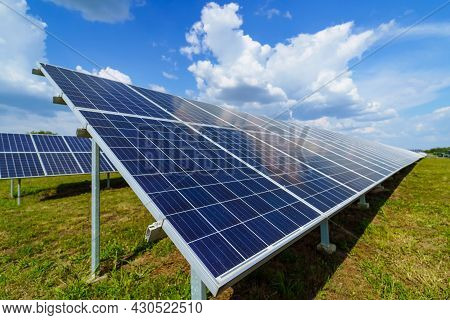 Photovoltaic. Solar Panel, Alternative Electricity Source. Concept Of Sustainable Resources ,clean E