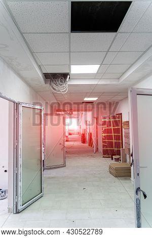 Reconstruction Office Interior. Renovation New Modern Apartment.