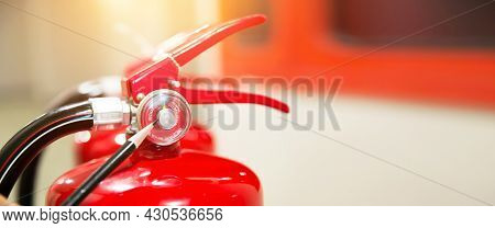 Fire Extinguisher, Engineer Inspection And Checking Pressure Gauge Level Of Fire Extinguisher Tank W