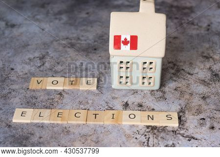 Canada Voters Issue Affordable Housing Election Concept