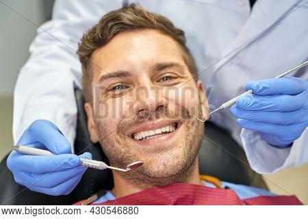 Joyous Patient Feeling Alright At Dental Check-up