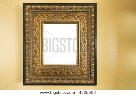 Ornate Blank Picture Frame On Wall