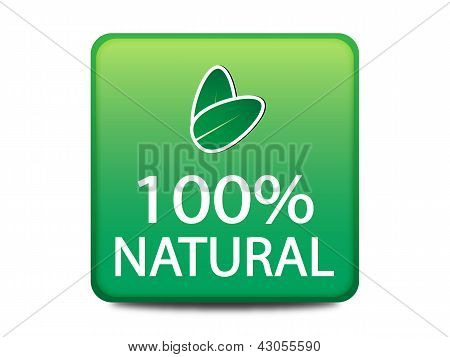 100% Natural web button