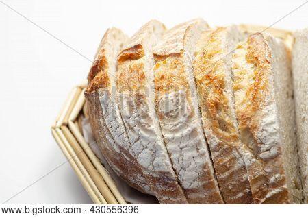 Gluten Free Artisan Bread Sourdough Cob, Homemade Baking Of Delicious Round Bread