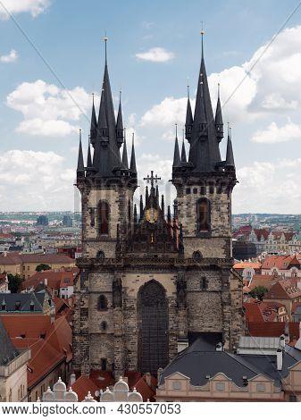 Church Or Our Lady Before Tyn In Prague, Czech Republic