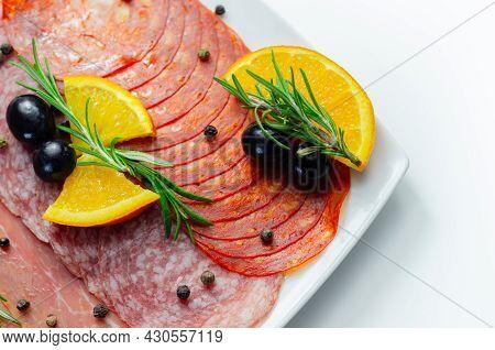 Continental Cured Pork Cold Cuts, Prosciutto, Milano Style Salami And Spanish Chorizo