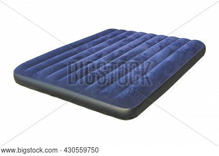 Inflatable Camping Mattress Close Up Isolated On White Background