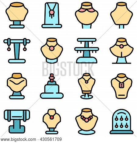 Jewelry Dummy Icon. Outline Jewelry Dummy Vector Icon Thin Line Color Flat On White