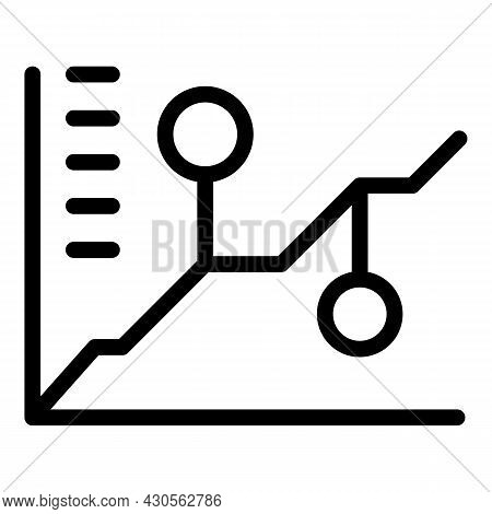Workforce Graph Icon Outline Vector. Work Job. Online Business