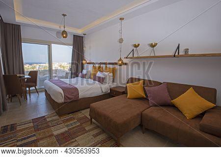 Living Room Lounge Area In Luxury Studio Apartment Show Home Showing Interior Design Decor Furnishin