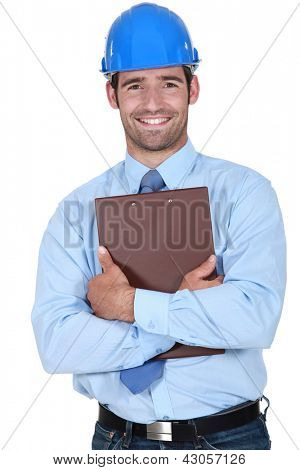 Surveyor holding a clipboard