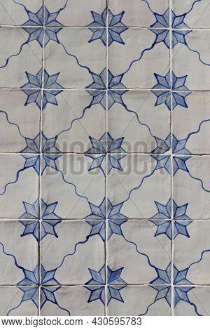 Portuguese Painted Tin-glazed Ceramic In Lisbon, Portugal