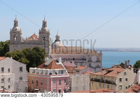 Panoramic View Of The City Of Lisbon, Portugal